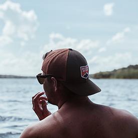 Wisconsin Dells guy on boat
