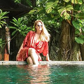 Woman at a resort