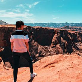 Woman in Arizona view