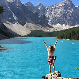 Woman in Banff Canada