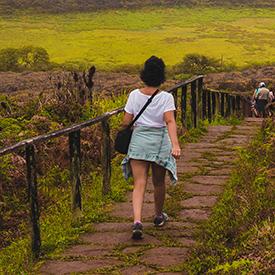 Woman in Galapagos