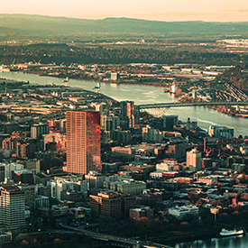 portland from the air