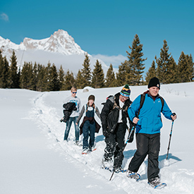 snow shoeing in the grand teton national park
