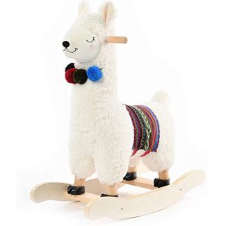 Baby Plush Stuffed Rocking Llama