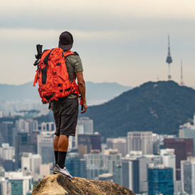 Man-in-South Korea looking at view