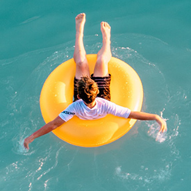 Man on a float trip