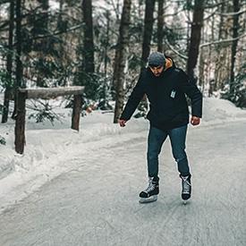 Man skating in Quebec
