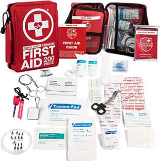 Swiss Safe 200-Piece Professional First Aid Kit