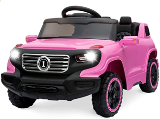 pink ride on remote control car
