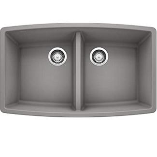 Blancho Metallic Gray Double Bowl Undermount
