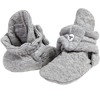 Burt's Bees Baby Unisex Baby Booties, Organic Cotton Adjustable Infant Shoes