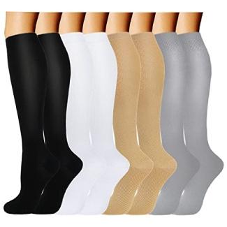 ACTINPUT Compression Socks - 8 Pairs
