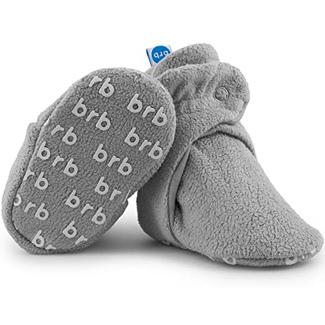 Bird Rock Baby Fleece Baby Booties - Organic Cotton & Gripper Bottoms, Cozy Boys & Girls Bootie