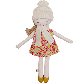 Hearts of Yarn Plush Autumn Outdoor Doll for Girls