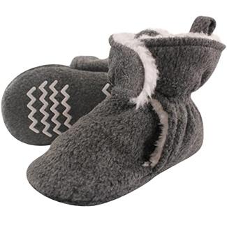 Hudson Baby Unisex Cozy Fleece and Sherpa Booties
