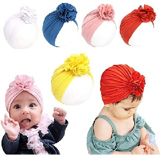 HUIXIANG Baby Girl Head Wrap with Big Bow Cap