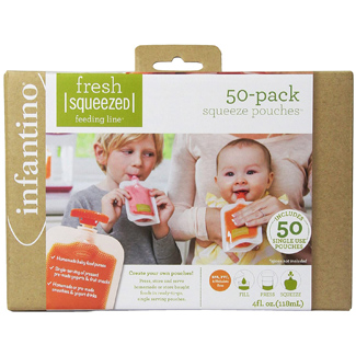 Infantino Disposable Squeeze Pouches