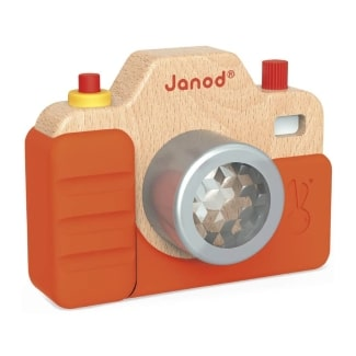 Wood Toddler Camera with Light & Sound Effects