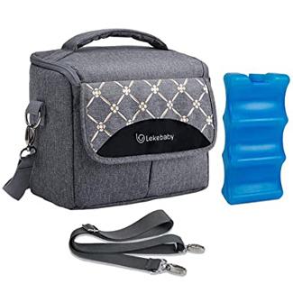 Lekebaby Breast Milk Cooler Bag with Contoured Ice Pack