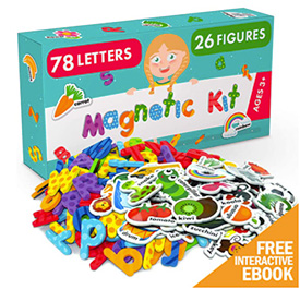 Magnetic letters for toddlers