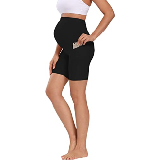 Foucome Over the Belly Yoga Shorts
