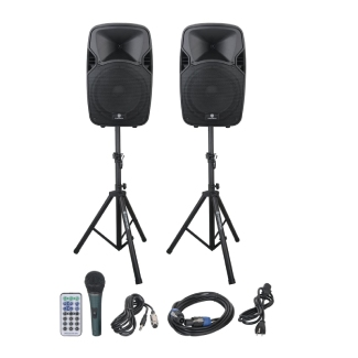 Portable PA Speaker System Combo Set with Bluetooth