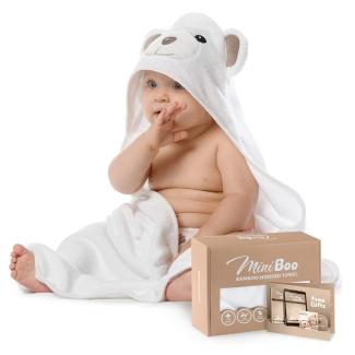 MiniBoo Premium Bamboo Baby Hooded Towel