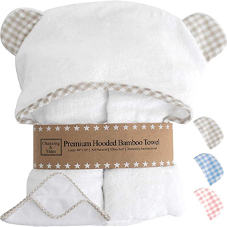 Channing & Yates Premium Baby Towel with Hood and Washcloth Set