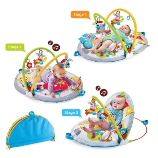 Yookidoo Baby Play Gym Lay to Sit-Up Play Mat