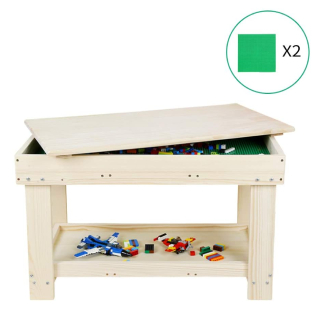 YouHi Kids Activity Table with Board for Bricks