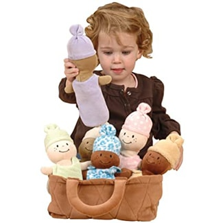 Basket of Babies 6 Piece Baby Doll Set