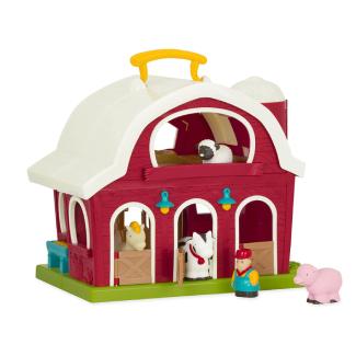 Battat-Big Red Barn- Animal Farm Playset for Toddlers