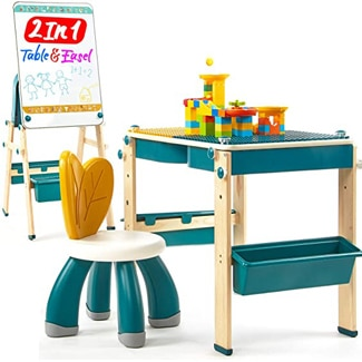 Hahaland 2 in 1 Kids Table & Easel