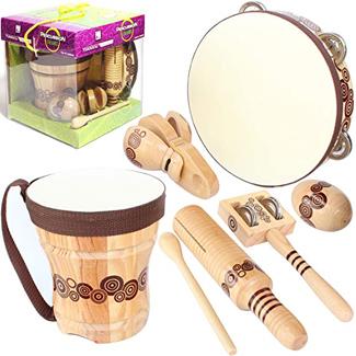 Handmade Wooden Instruments Set