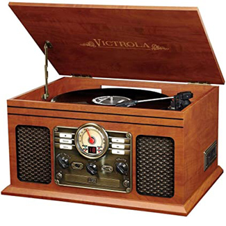 Victrola Nostalgic 6-in-1 Bluetooth Turntable Entertainment Center