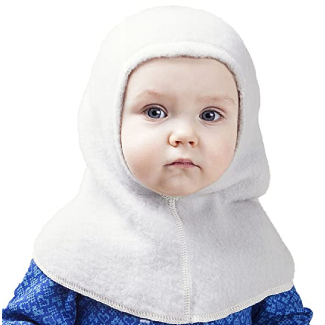 LANACare Super Soft Organic Merino Wool Baby Balaclava