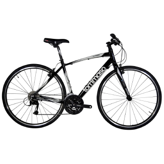 Tommaso La Forma Lightweight Aluminum Hybrid Bike, Carbon Fork, 27 Speed, Shimano Acera
