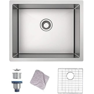 MENSARJOR Handmade Undermount Kitchen Sink T304