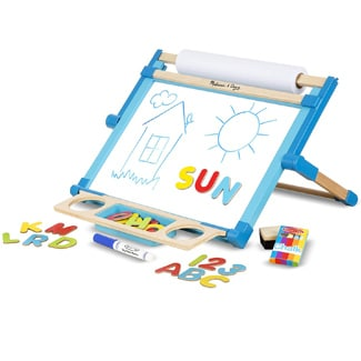 Melissa & Doug Double-Sided Tabletop Easel, Multi Color