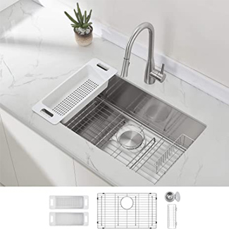 Zunhe Modena Undermount Kitchen Sink Set