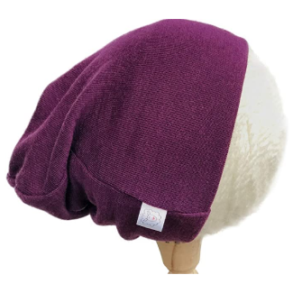 Pure Organic Merino Wool Hat, Slouchy Beanie, Toque, Knit Cap, Skully, Balaclava