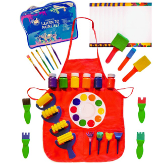 Kids Learn to Paint Set with Smock