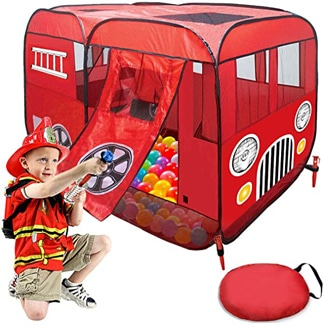 Fire Truck Tent and Ball Pit