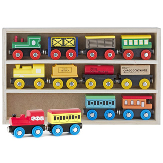 Play22 Wooden Train Set (12 Pieces)