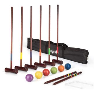 ROPODA Six-Player Deluxe Croquet Set