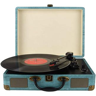 Kedok Record Player Vintage 3-Speed Bluetooth Vinyl Turntable
