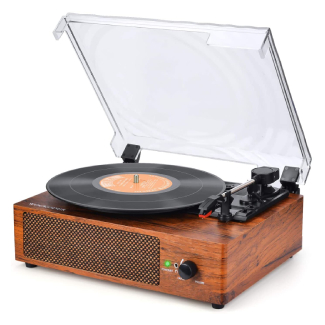 WOCKODER Turntable Vinyl Record Player