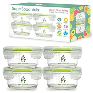 Sage Spoonfuls Tough Glass Baby Food Bowls