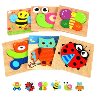 Springflower Wooden Jigsaw Set