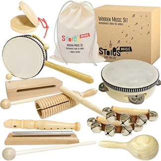 Stoie's International Wooden Music Set for Toddlers & Kids